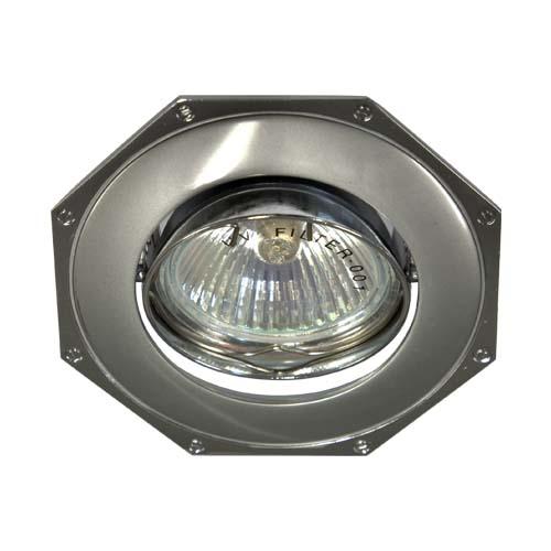 Фото -Встраиваемый светильник Feron 305Т MR-16 серый хром 17569