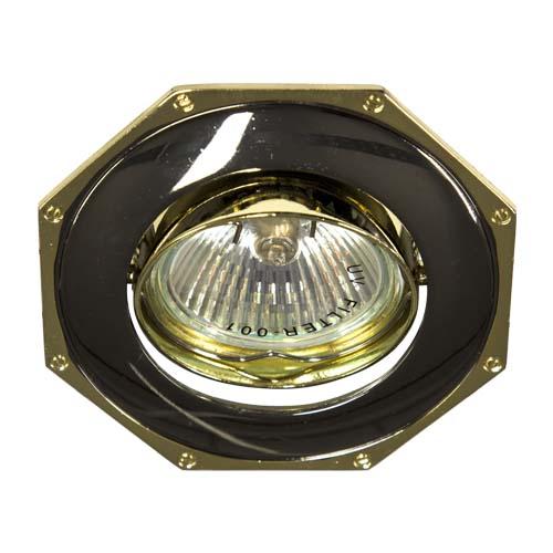 Фото -Встраиваемый светильник Feron 305Т MR-16 черный золото 17572