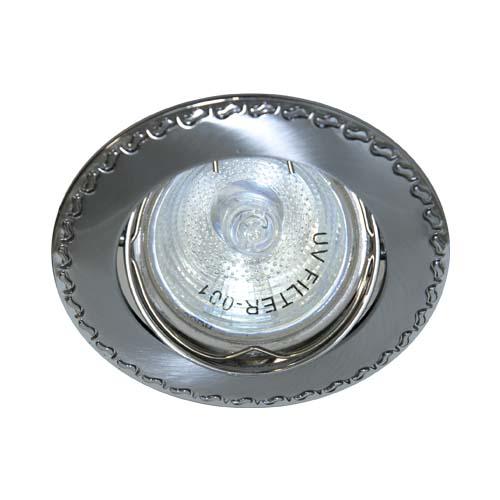 Фото -Встраиваемый светильник Feron 125Т MR-16 матовый хром хром 17782
