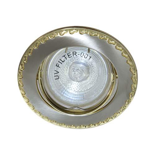 Фото -Встраиваемый светильник Feron 125 R-50 титан золото 17617
