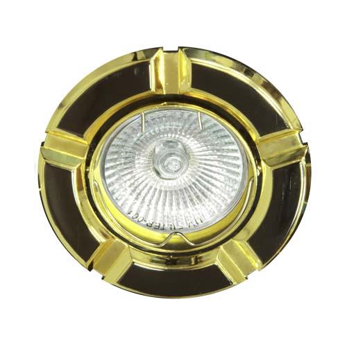 Фото -Встраиваемый светильник Feron 098Т MR-16 черный золото 17642