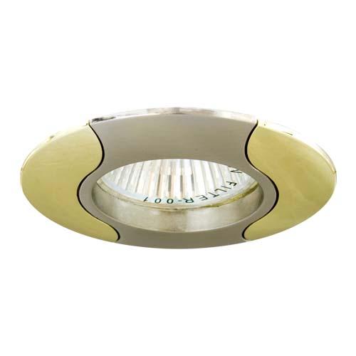 Фото -Встраиваемый светильник Feron 020 R-50 титан золото 17670