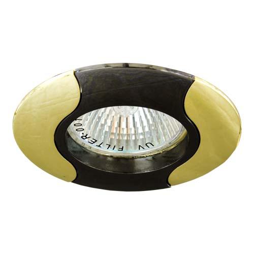 Фото -Встраиваемый светильник Feron 020Т MR-16 черный золото 17682