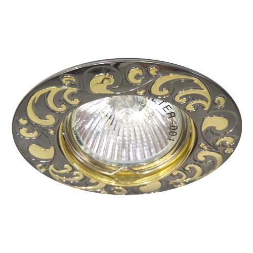 Фото -Встраиваемый светильник Feron 2005DL MR-16 черный металлик золото 17798