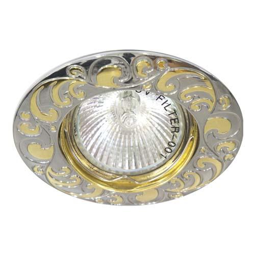 Фото -Встраиваемый светильник Feron 2005DL MR-16 хром золото 17799