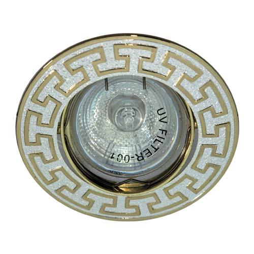 Фото -Встраиваемый светильник Feron 2008AL R50 серебро золото 17886