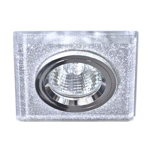 Фото -Встраиваемый светильник Feron 8170-2 мерцающее серебро-серебро 20094