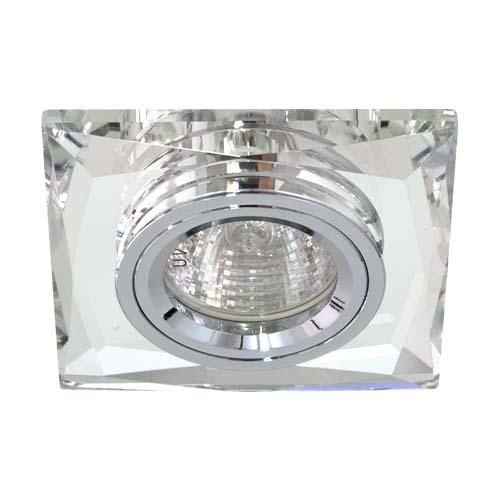 Фото -Встраиваемый светильник Feron 8150-2 серебро серебро 20124