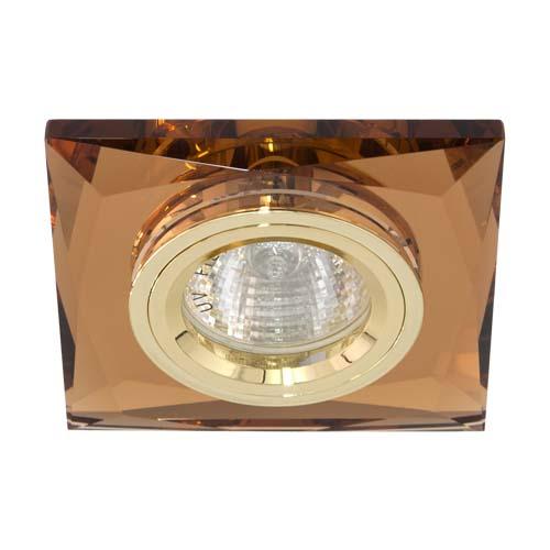 Фото -Встраиваемый светильник Feron 8150-2 коричневый золото 20123