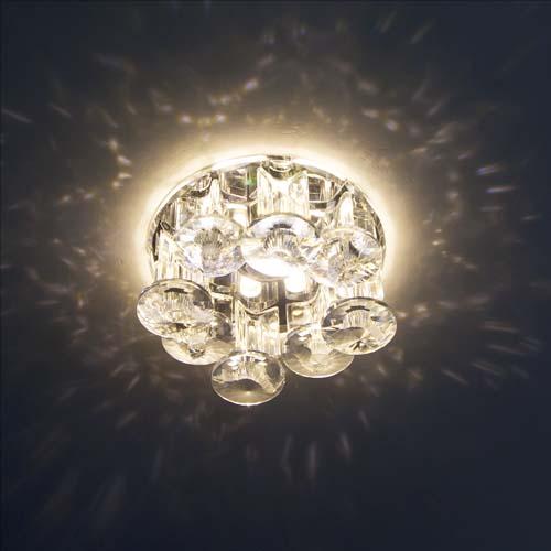 Фото -Встраиваемый светильник Feron 1527 с LED подсветкой  27972