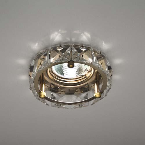 Фото -Встраиваемый светильник Feron CD4525 прозрачный золото 28192