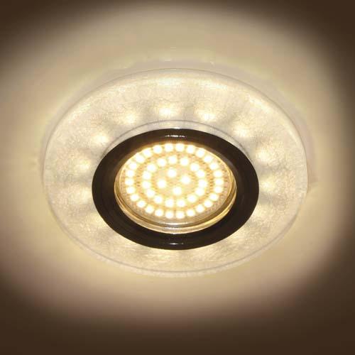 Фото -Встраиваемый светильник Feron 8989-2 с LED подсветкой  28582