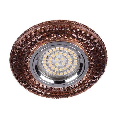 Фото -Встраиваемый светильник Feron CD877 с LED подсветкой чайный 28605