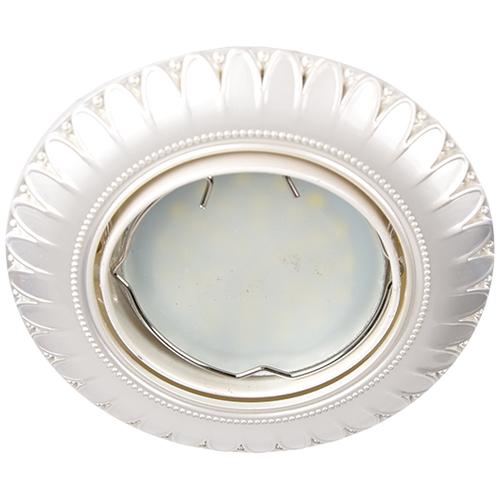 Фото -Встраиваемый светильник Feron DL6051 жемчужное серебро 28873