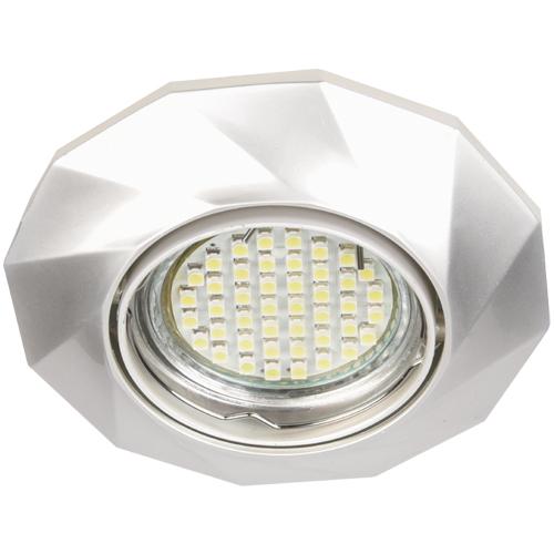 Фото -Встраиваемый светильник Feron DL6021 жемчужное серебро 28877