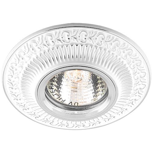 Фото -Встраиваемый светильник Feron DL6240 белый серебро 28883