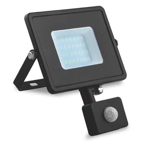 Фото -Светодиодный прожектор Feron LL-906 20W с датчиком движения 29556