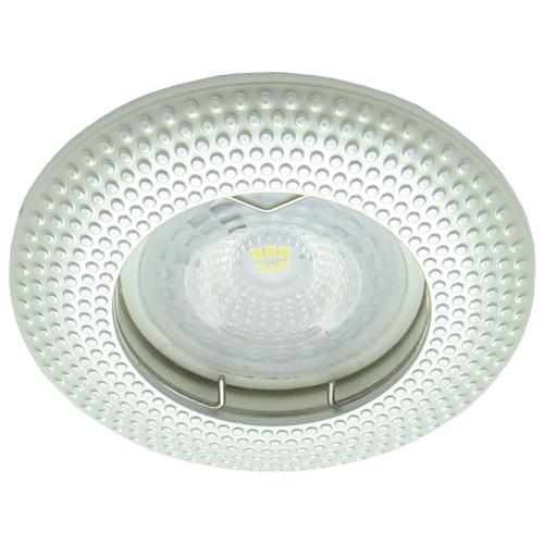Фото -Встраиваемый светильник Feron DL6042 жемчужное серебро 30124