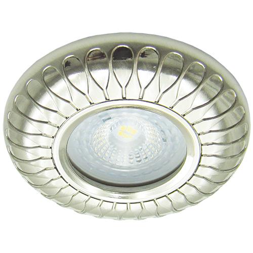 Фото -Встраиваемый светильник Feron DL6047 жемчужное серебро 30133