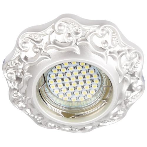 Фото -Встраиваемый светильник Feron DL6241 жемчужное серебро 30136