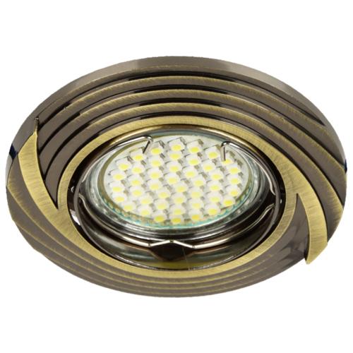 Фото -Встраиваемый светильник Feron DL6227 античное золото 30086